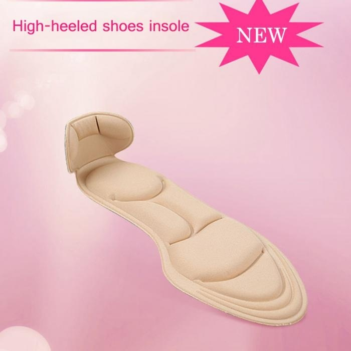 1 Pair Insole Pad Inserts Heel Post Back Breathable Anti-slip for High Heel Shoe