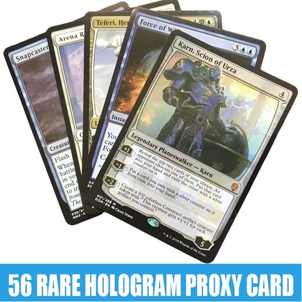 56pcs Proxy Card Black Core Hologram Cards All Rare Expensive Cards.