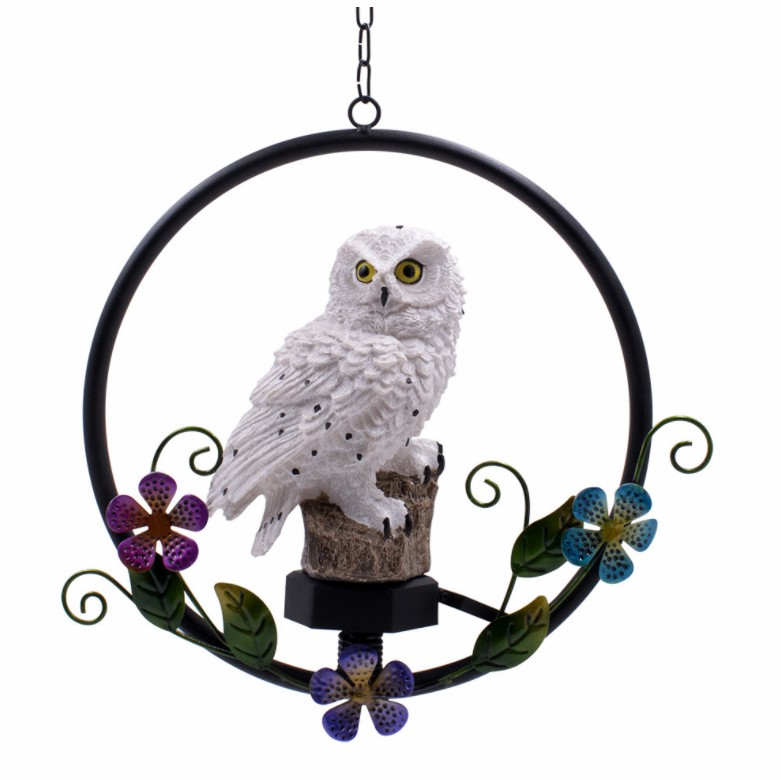 Solar owl garden decoration chandelier