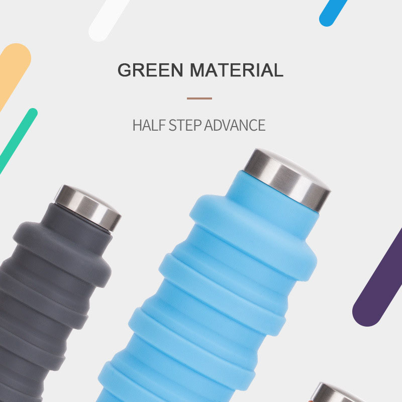 COLLAPSIBLE SILICONE WATER BOTTLE👉SEND A BUTTON🔥