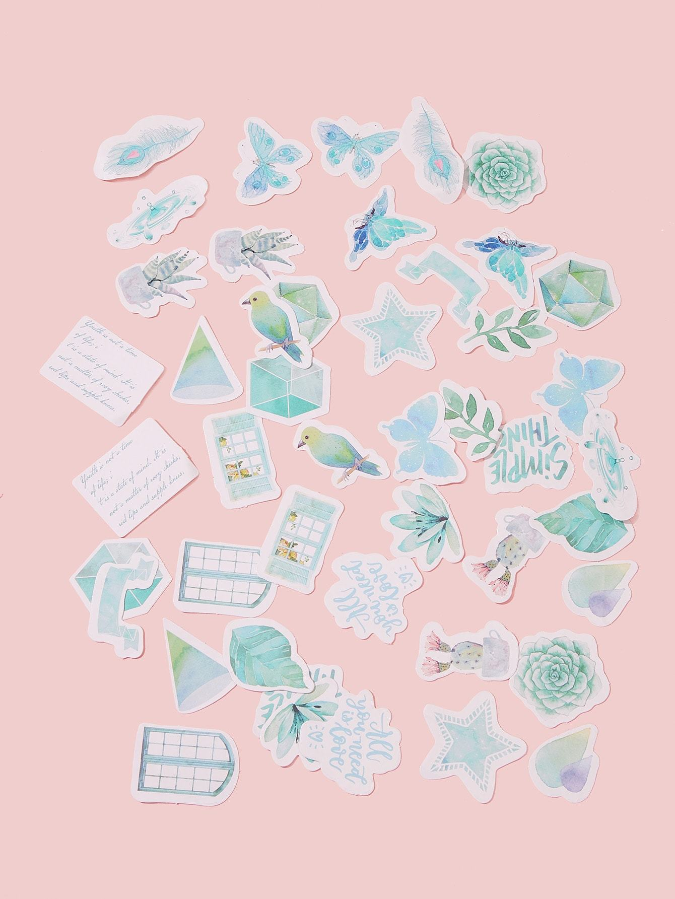 Mixed Pattern Sticker 46pcs