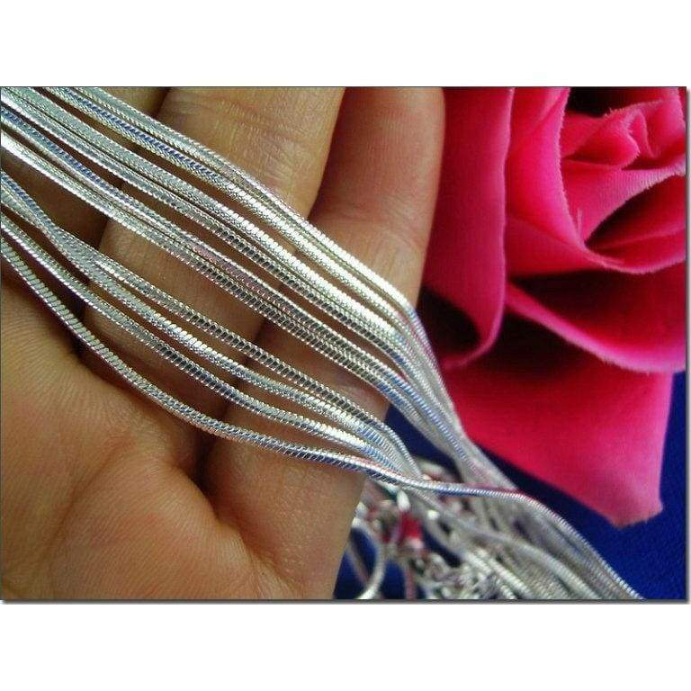 Wholesale Lots 925 Sterling Silver Snake Chain Necklace 16' - 30'