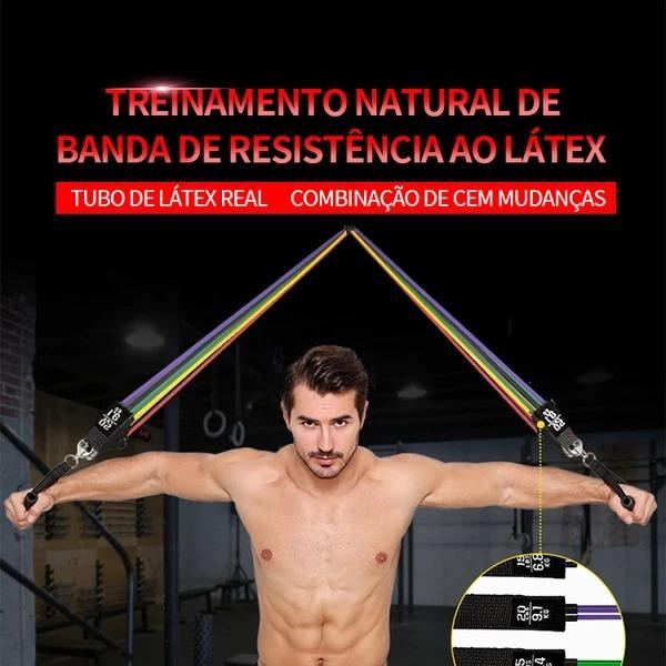 Natural latex resistance band training - Buy 2 free shipping