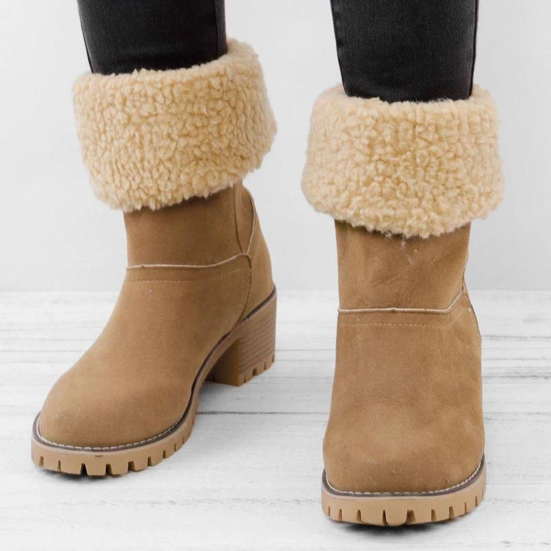 【Christmas sale】Women's Thermal Calf Wedge Boots
