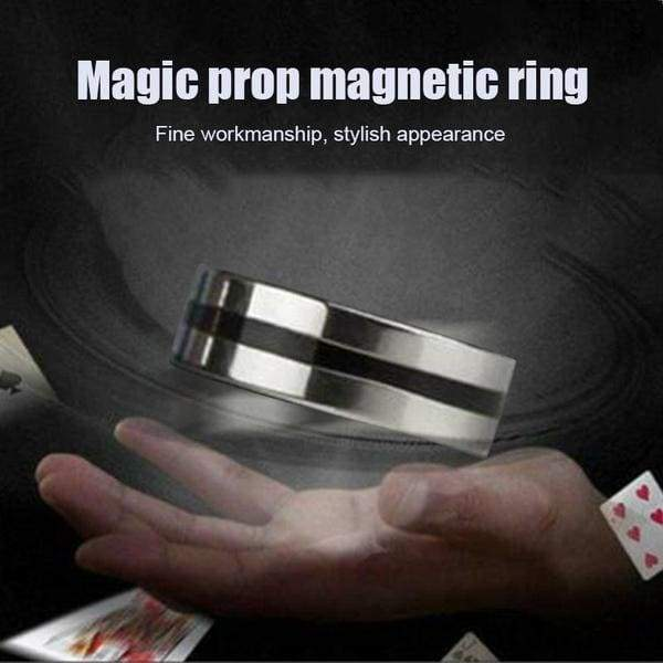 Black Circle Magnetic Ring Suspension Ring Magic Props Floating Ring Magic Toys