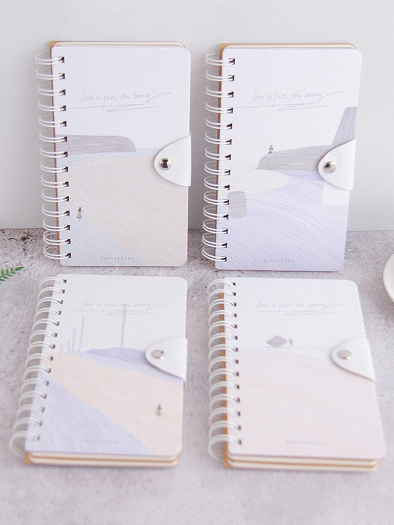 Sketch Pattern Spiral Notebook 1pack