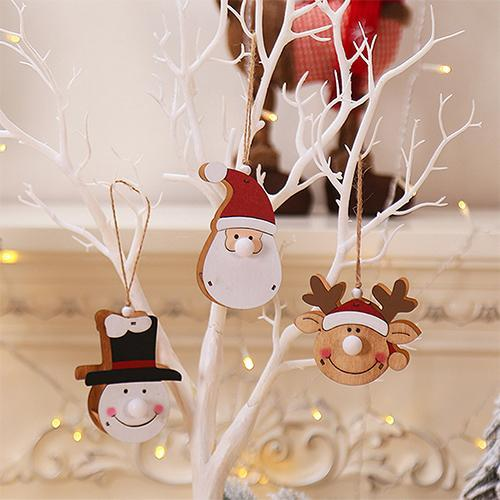 Christmas Tree Decorative Supplies Wooden Santa with Light🔥50% OFF TODAY