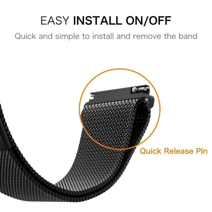 2 Pcs/Lot 22mm 20mm universal Milanese Tie Strap Band for Samsung Galaxy Gear Watch S3 S2 for HUAWEI GT / Garmin Vivoactive 3 / Xiaomi Huami Amazfit / For Samsung Galaxy watch 42mm 46mm