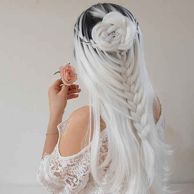 2020 New Gray Hair Wigs For African American Women Growing Out Grey Hair Toupee Wig Beautiful Grey Haired Woman Good Cheap Wigs Hairpieces For Women