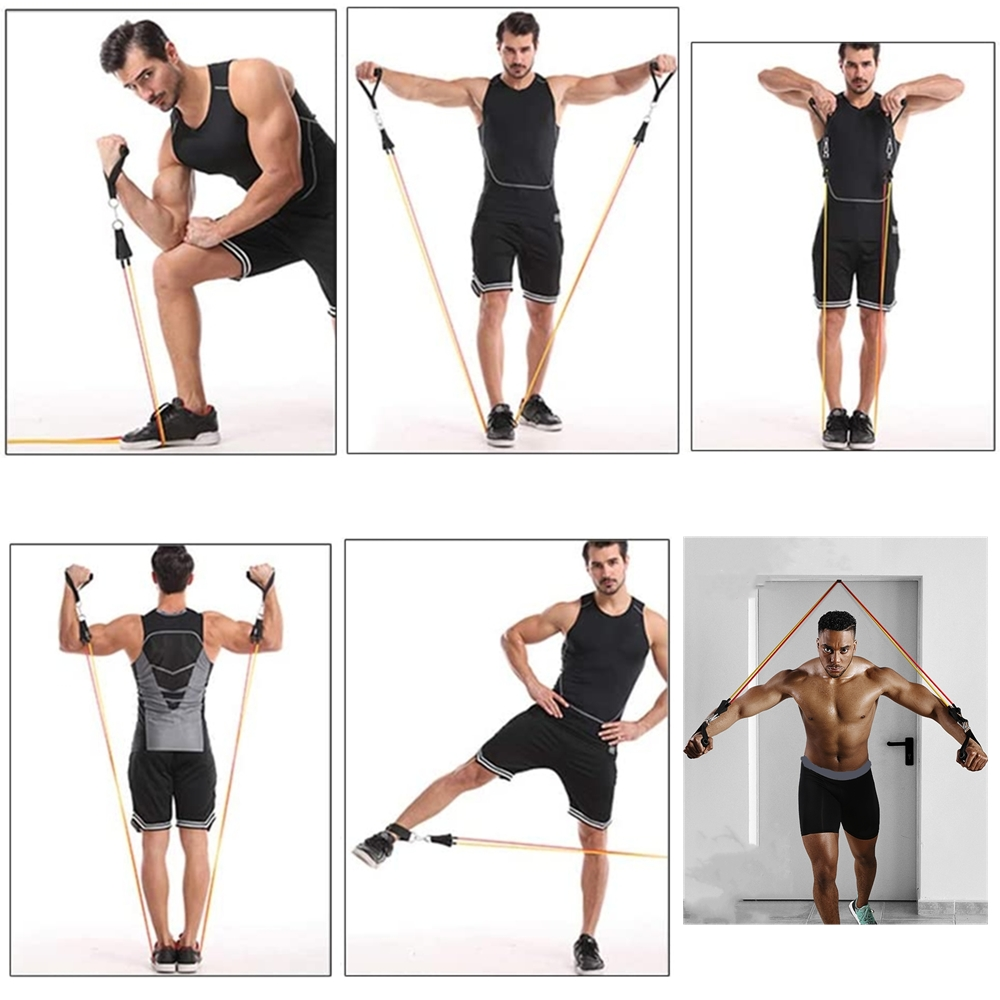 resistance band set(11 piece set)((Buy one get one free(Provide a free iPhone charging cable (worth $7))(Buy $50 off $5 off)