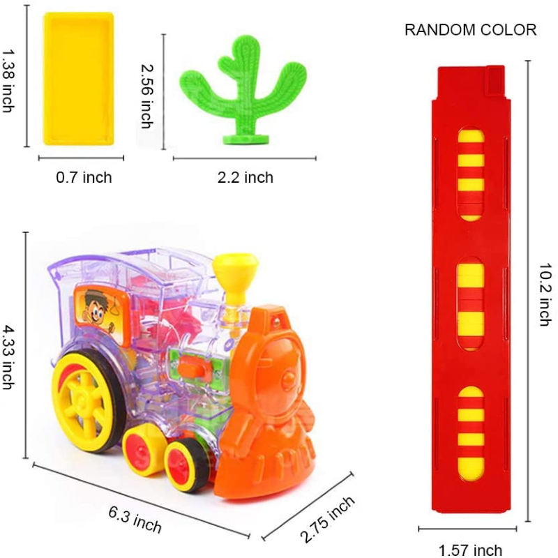 (Children's Day Promo- 50% OFF)  Automatic Domino Train & Buy 2 Get Extra 10% OFF