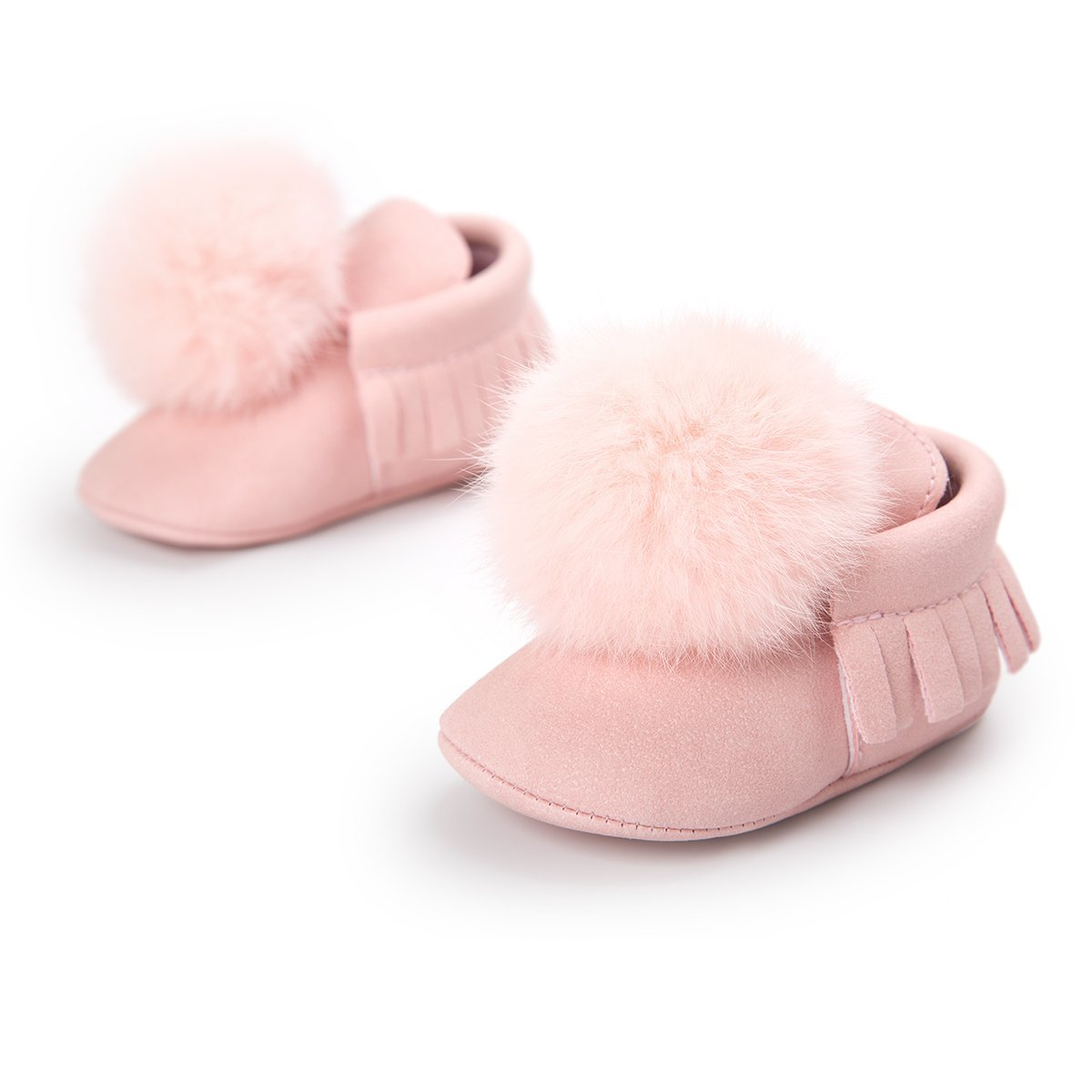 0-18M Toddler Baby Boy Girl Pompon ball First Walkers Shoes