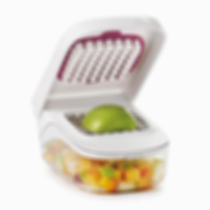 Onion Tomato Vegetable Chopper Grater with Easy Pour Opening