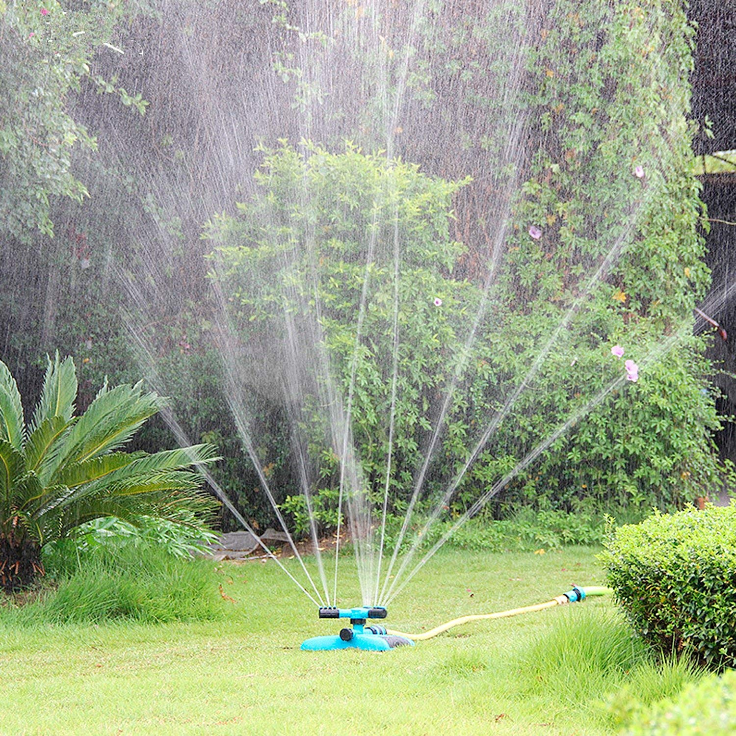 Automatic Lawn Water Sprinkler 360 Degree 3- Arm Rotating Sprinkler System