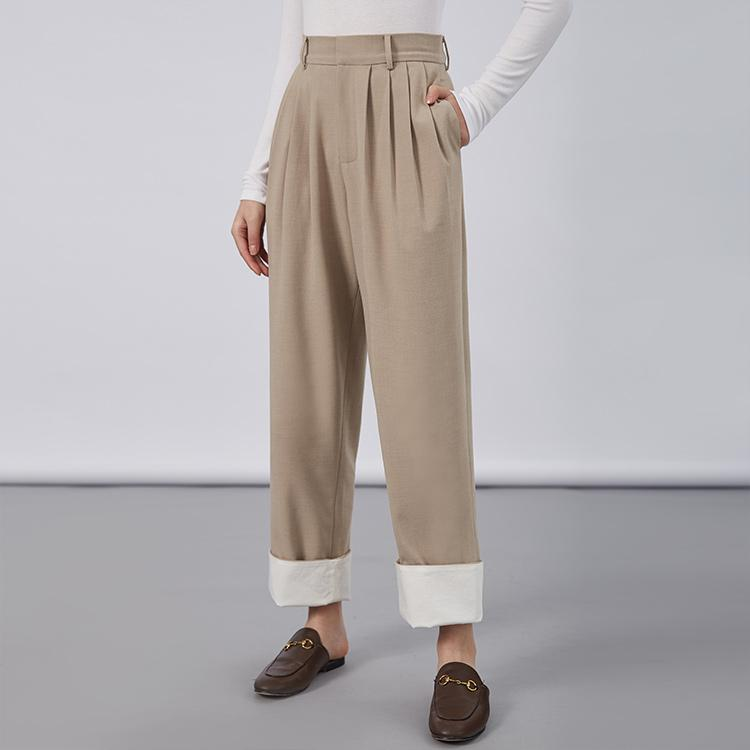 Women's trousers high waist and wide legs-carrot trousers 2.11