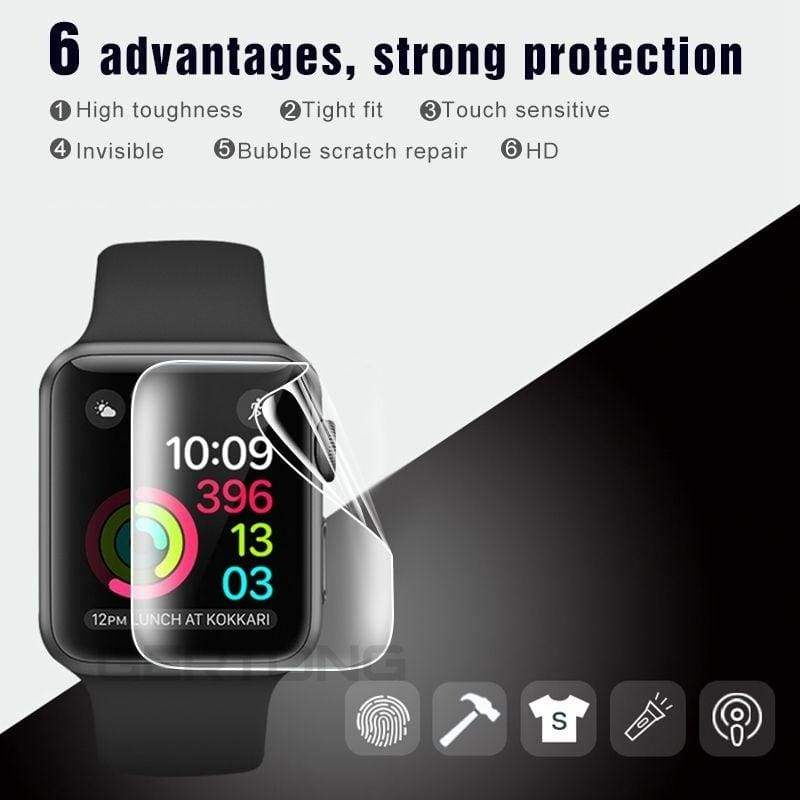 2pcs/lot  9D Screen Protector for IWatch Series 5 4 3 2 1 HD Clear Full Cover Hydrogel Film for IWatch 44mm 42mm 40mm 38mm