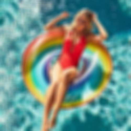 90cm Rainbow Swim Ring | Summer Swimming Inflatable Pool Floats