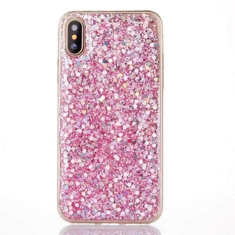 Bling Glitter Rubber Soft TPU Glossy Clear Frame Phone Case Cover Shell For iPhone 6 6S 7 Plus