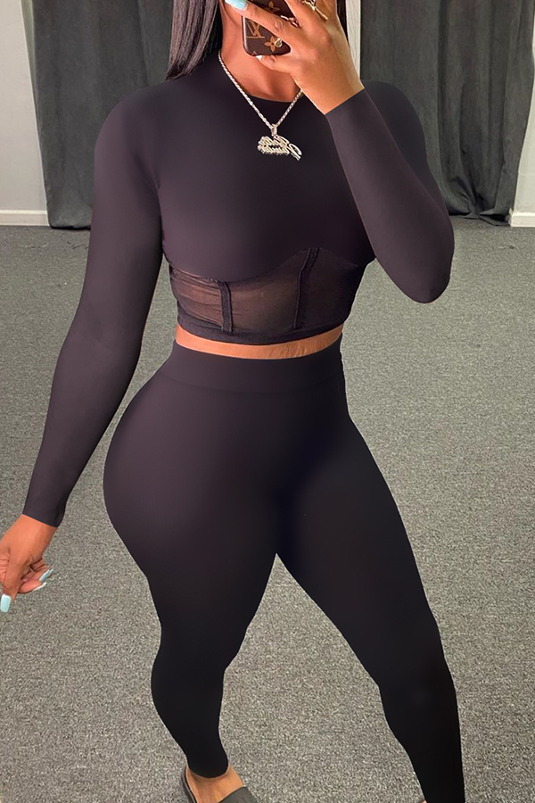Tight Long Sleeve Two-piece Set