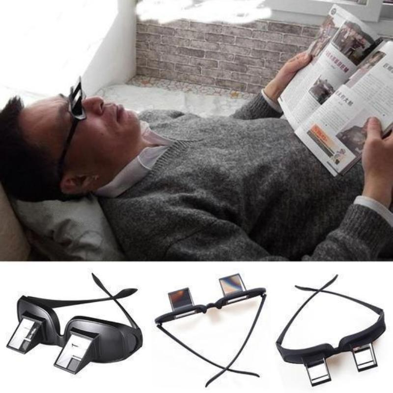 Horizontal Reflective Bed Lying Lazy Glasses for Reading/Watching TV
