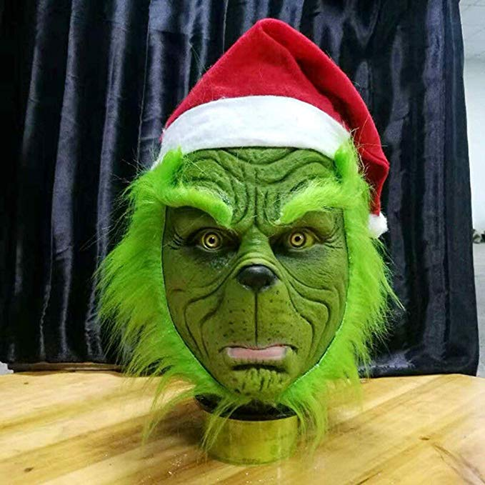 AHOME7 (About to Sold Out) Grinch Santa Mask Cosplay