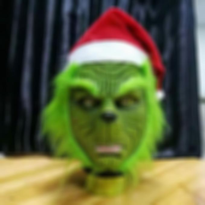 AHOME7 Grinch Santa Mask Cosplay