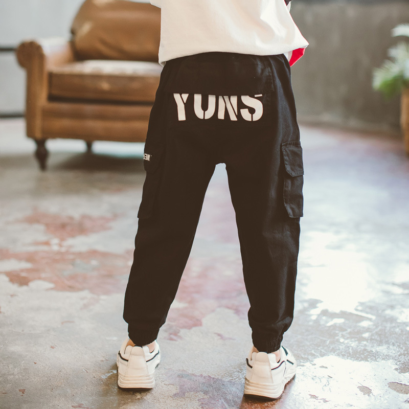 Kid Pants For Boys cargo Pant Letters Autumn Kids Pants Casual Kids Clothes Winter Teenage Boys Clothing