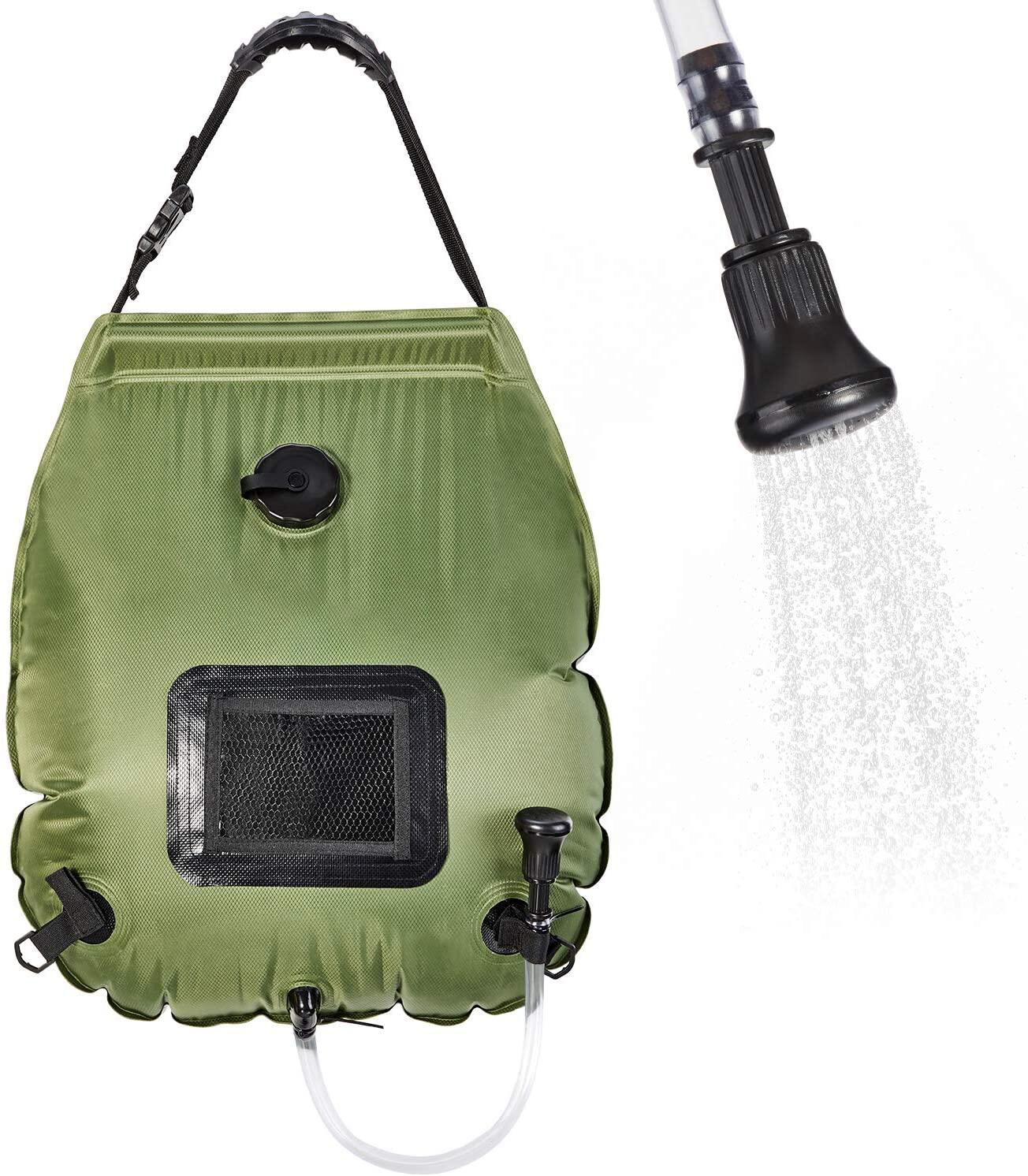 Solar Shower Bag 5 Gallons for Camping Beach Swimming