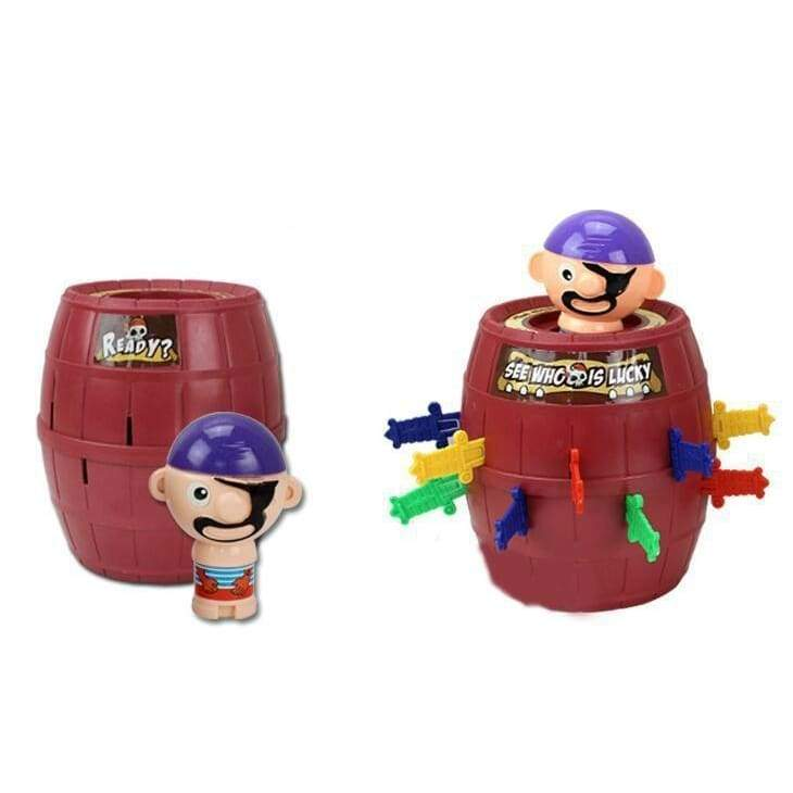 Pirate bucket toy pirate bucket luck toy party game luck winning tool