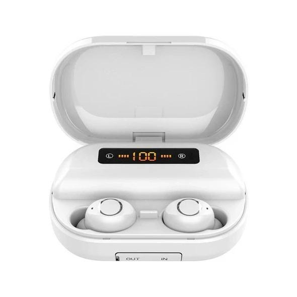 5.0 Bluetooth 9D Stereo Waterproof Earbuds with Charging Box
