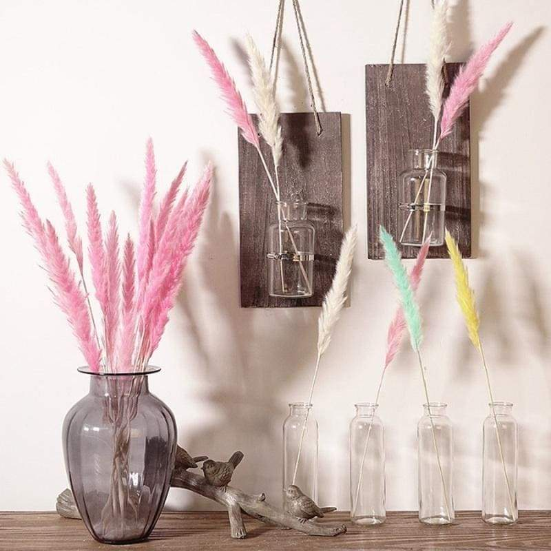 7/15Pcs Dried Flowers Bulrush Natural Dried Small Pampas Grass Phragmites Wedding Flower Bunch for Home Decor