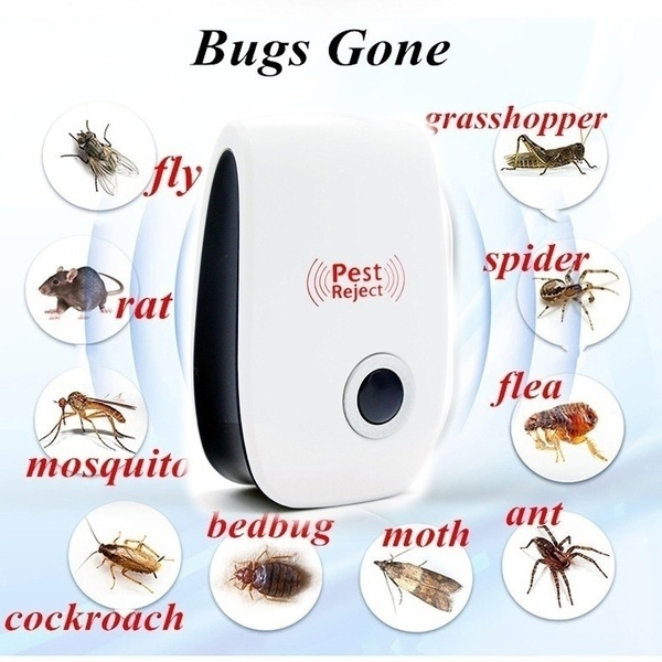 US/EU Plug Ultrasonic Electronic Indoor Anti Mosquito Rat Mice Insects Pest Bug Control Repeller