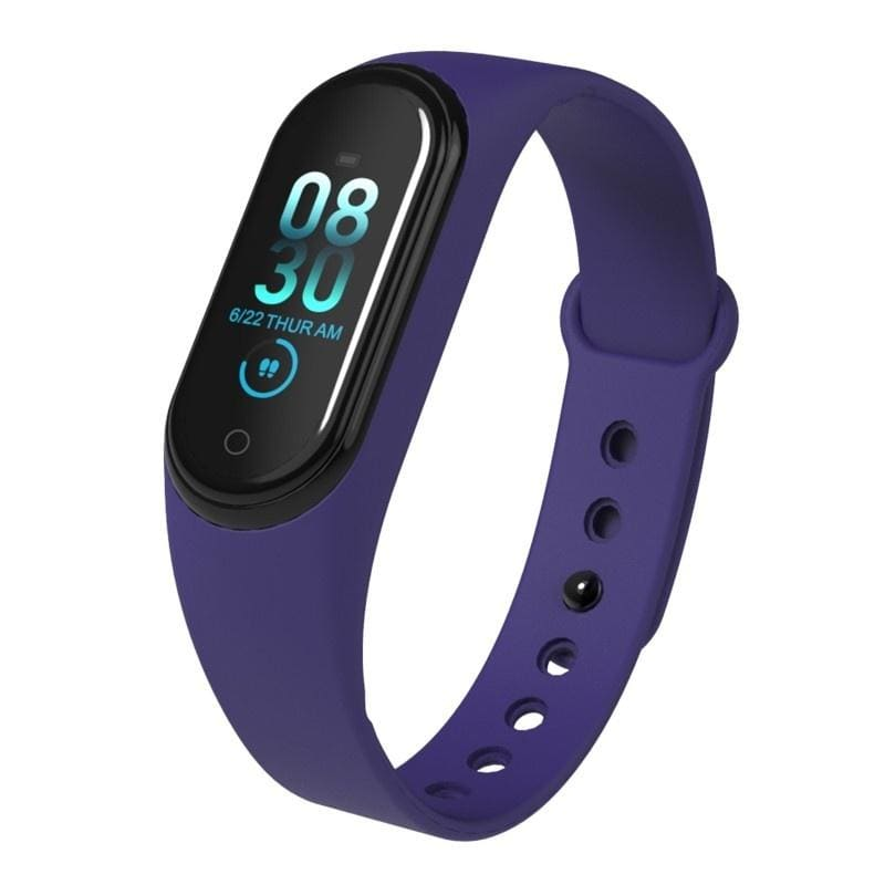 M4 Smart Bracelet IP67 Waterproof Smart Wristband Heart Rate Blood Pressure Sleep Monitor Fitness Tracker Smartband Sport Pedometer Step Distance Calorie Counter Activity Tracker Smart Watch for IOS Android Phone