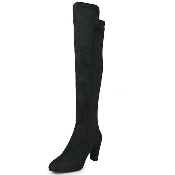 Women Fashion Over The Knee High Heels Stretch Slim Thigh High Boots Plus Size (35-43)