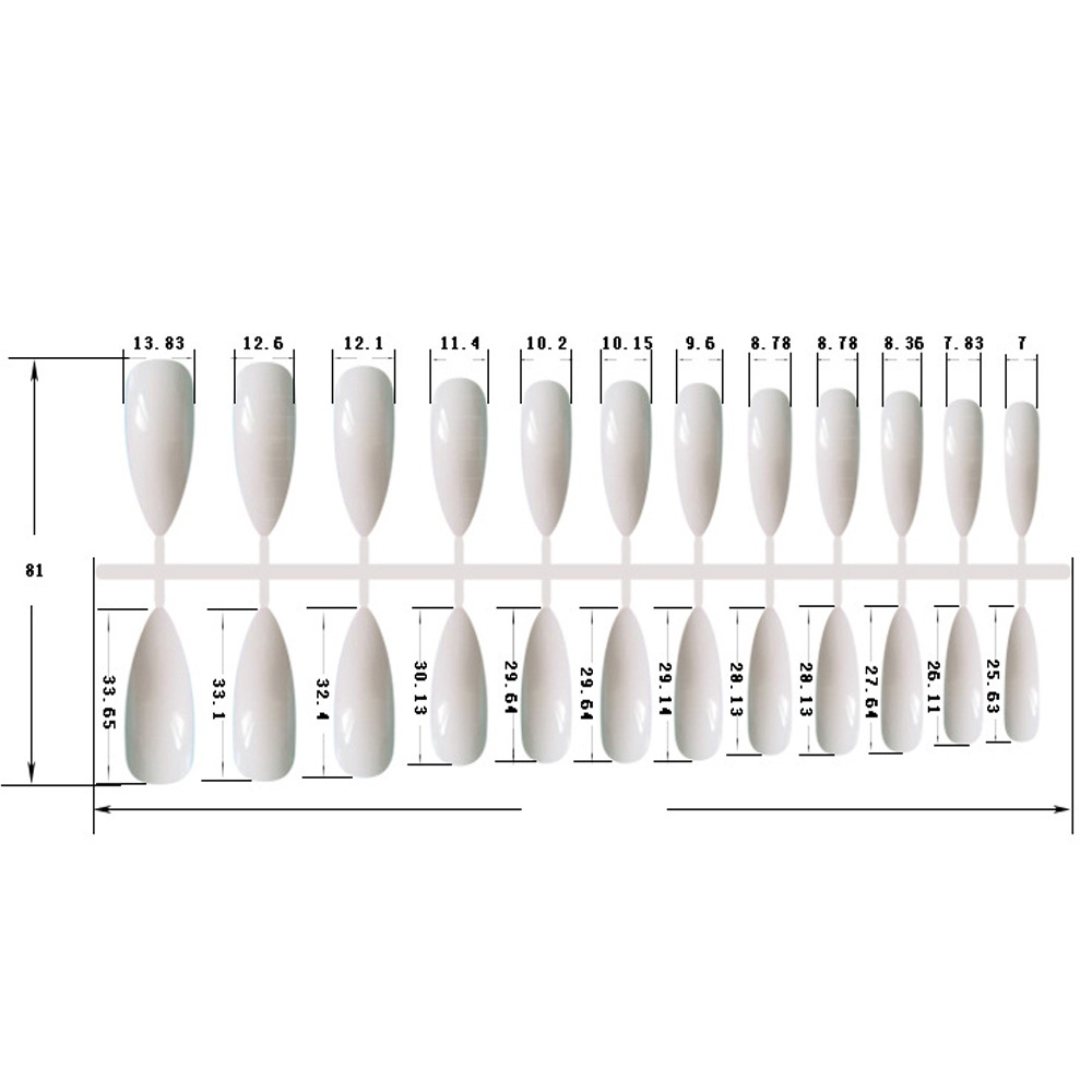 24Pcs Easy To Use Ballerina Extra Long Full Cover False Nails Manicure Tools Fake Nails Stiletto Tips Artificial Nails