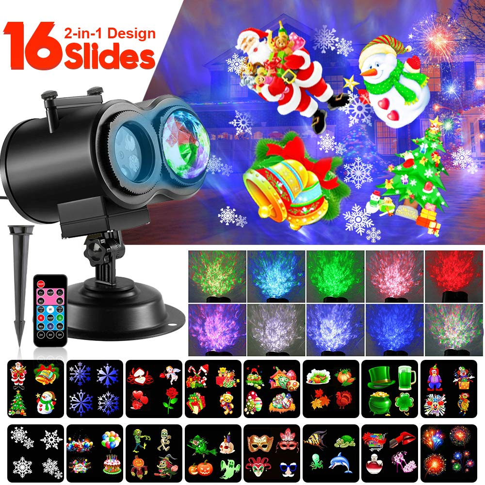 Christmas LED Projector Lights Waterproof Outdoor Indoor for Party Holiday Halloween Courtyard Decoration