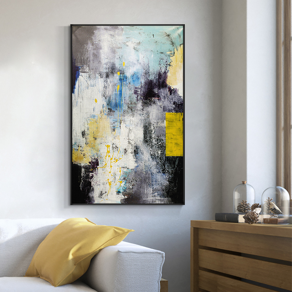 Abstract Colorful Landscape Hand Painted Oil Painting On Canvas Unframed Handmade Wall Art For Living Room Home Decoration