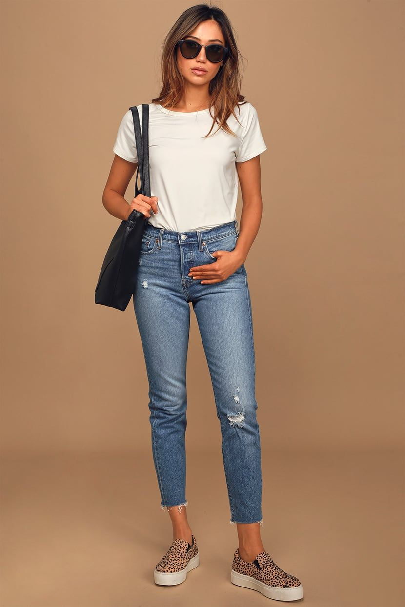 Jeans For Women New Fashion Dress For Girl 2019 High Waisted Linen Pants Distressed Shorts Khaki Combat Trousers
