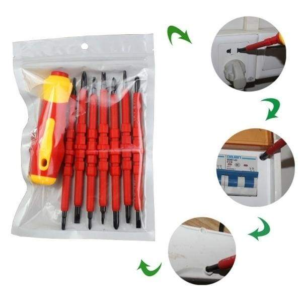 7PCS Insulated Electrical Electricians Hand Screwdriver Tool Set Magnetic Tips