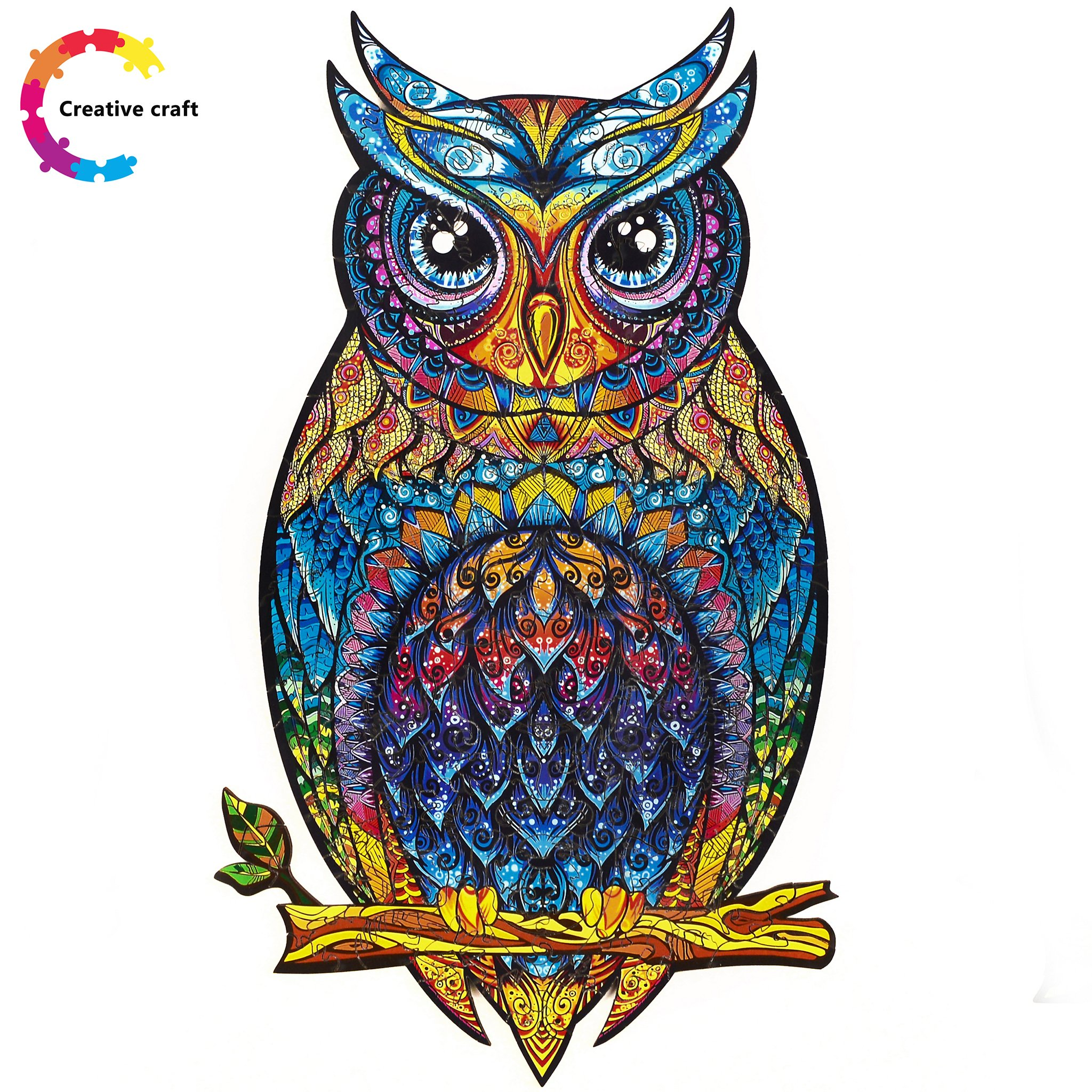 Wooden Jigsaw Puzzle Charming Owl-50% off