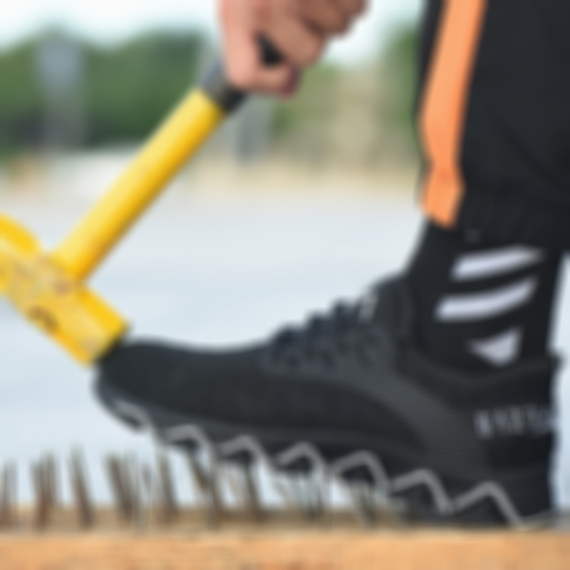 Anti-smashing and puncture-proof work shoes