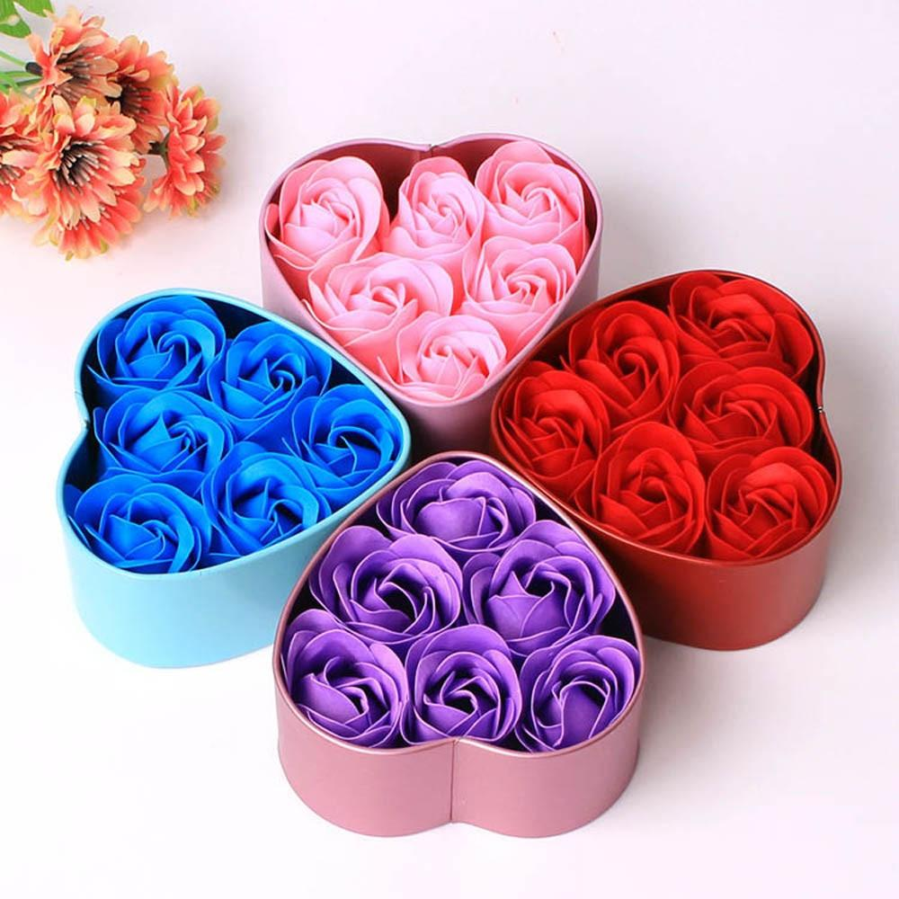 Colorful Heart Garden Soap Roses - BUY 3 PACKS FREE SHIPPING