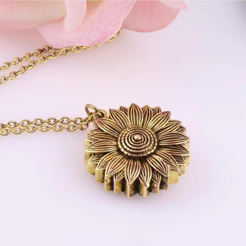 Sunflower Locket Necklace🔥Last Promotion