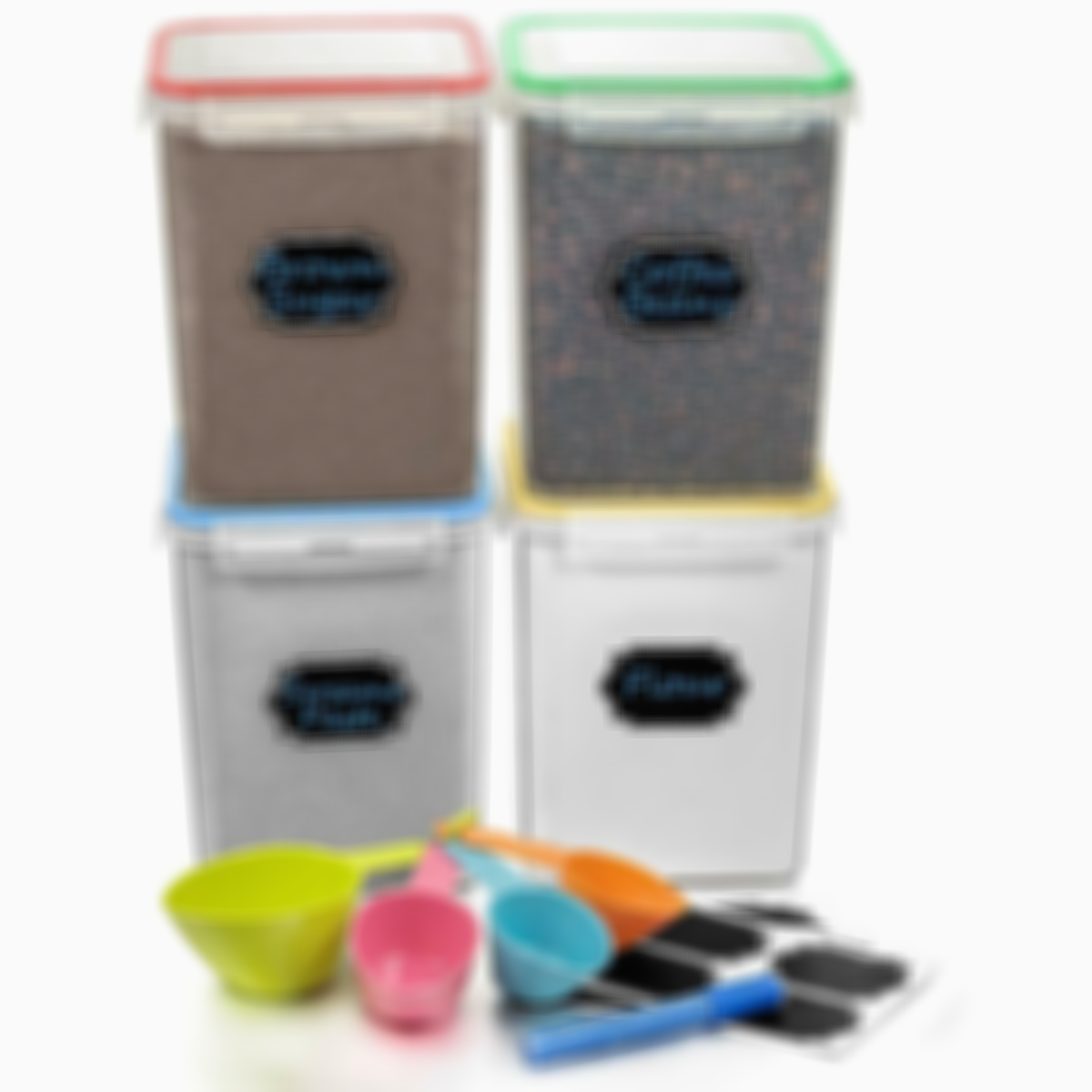 Food Cereal Storage Container - Estmoon Plastic Storage Containers