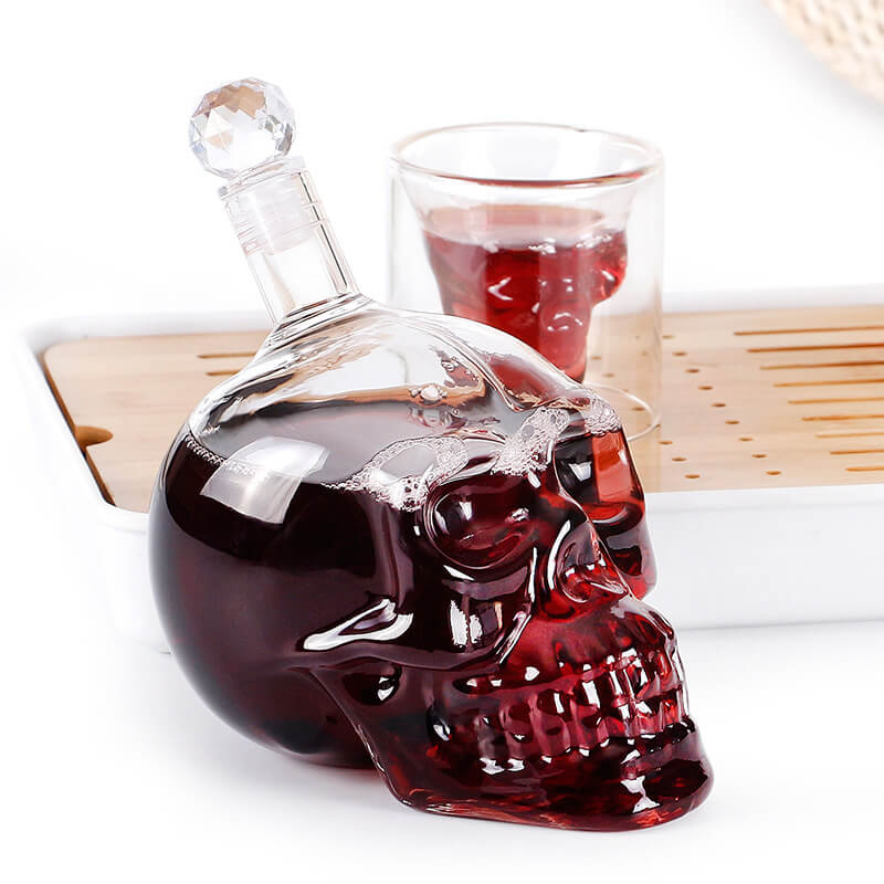 Skull Carafe Whiskey Decanter With Wine Stopper