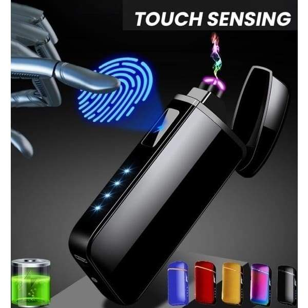 New Creative Men LCD Touch Switch Power Display USB Charging Electronic Dual Arc Flameless Cigarette Lighter Rechargeable Windproof Lighter