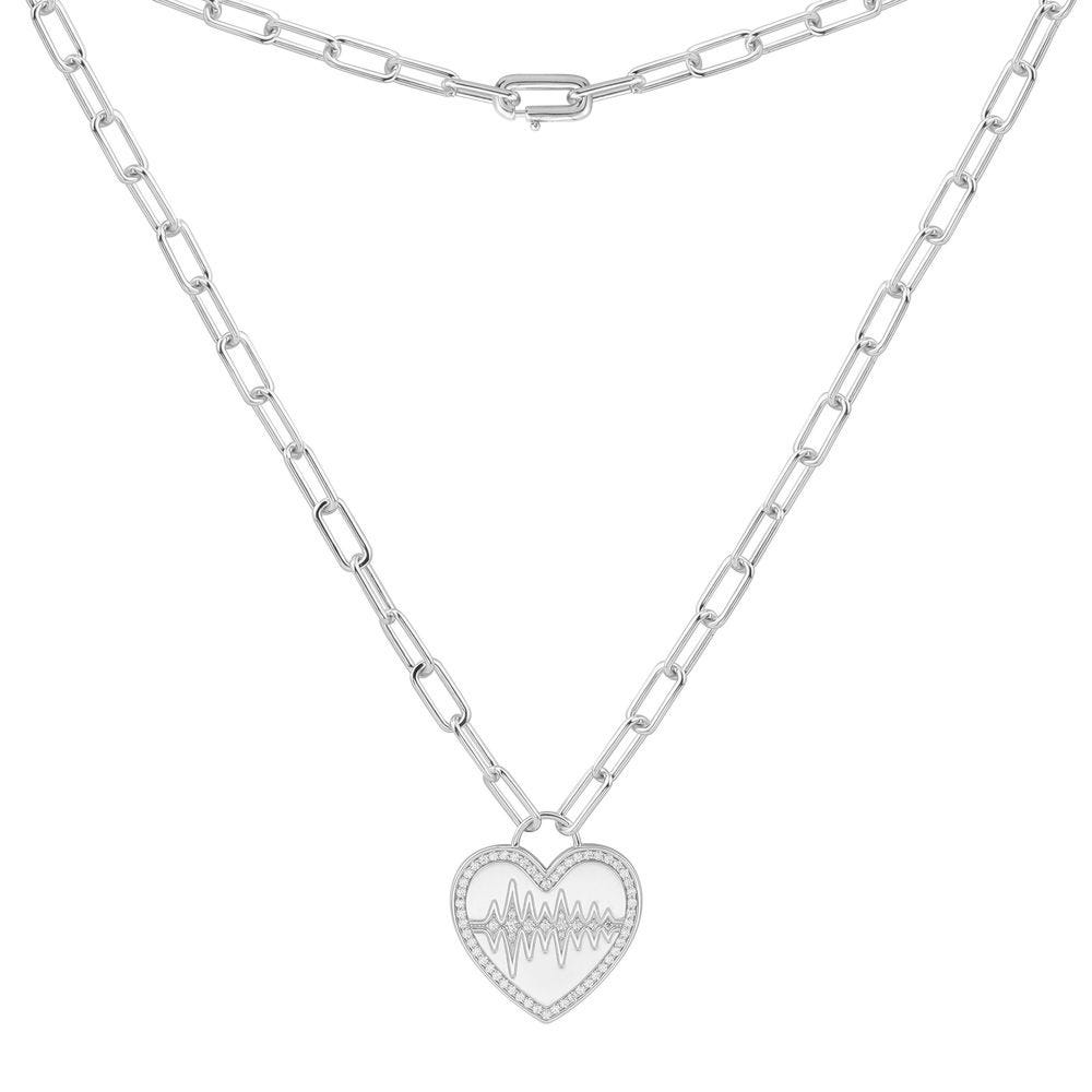 Heart Beat Necklace - Silver