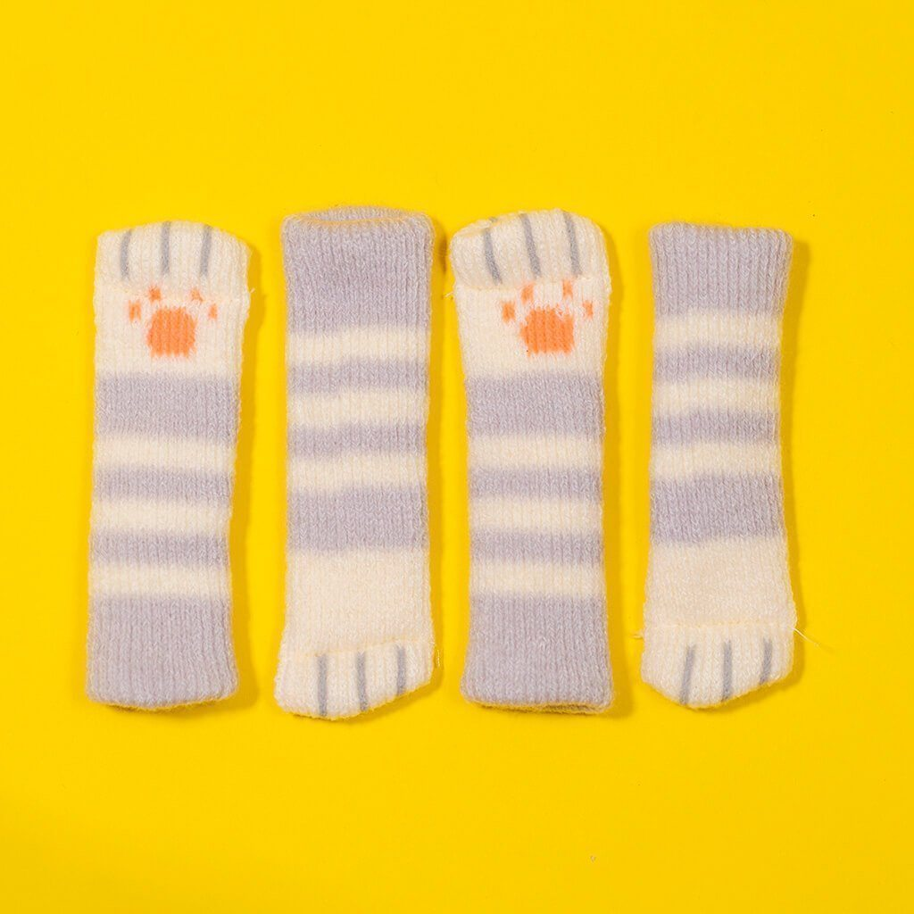 Super Black Friday ✪ Cyber Monday Sale! ✪- Cat Paw Chair Socks (4 Pack)