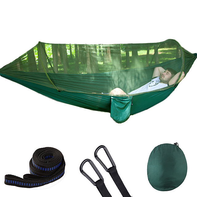 【60% OFF-Free Shipping】LockMesh+ Camping Netted Hammock (Maximum Load 300kg!!)