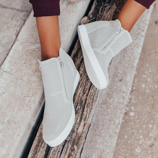 Lemmikshoes Perforated Stylish Breathable Sneakers